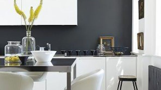 Best Cuisine Blanche Mur Gris Anthracite Contemporary - Matkin ...