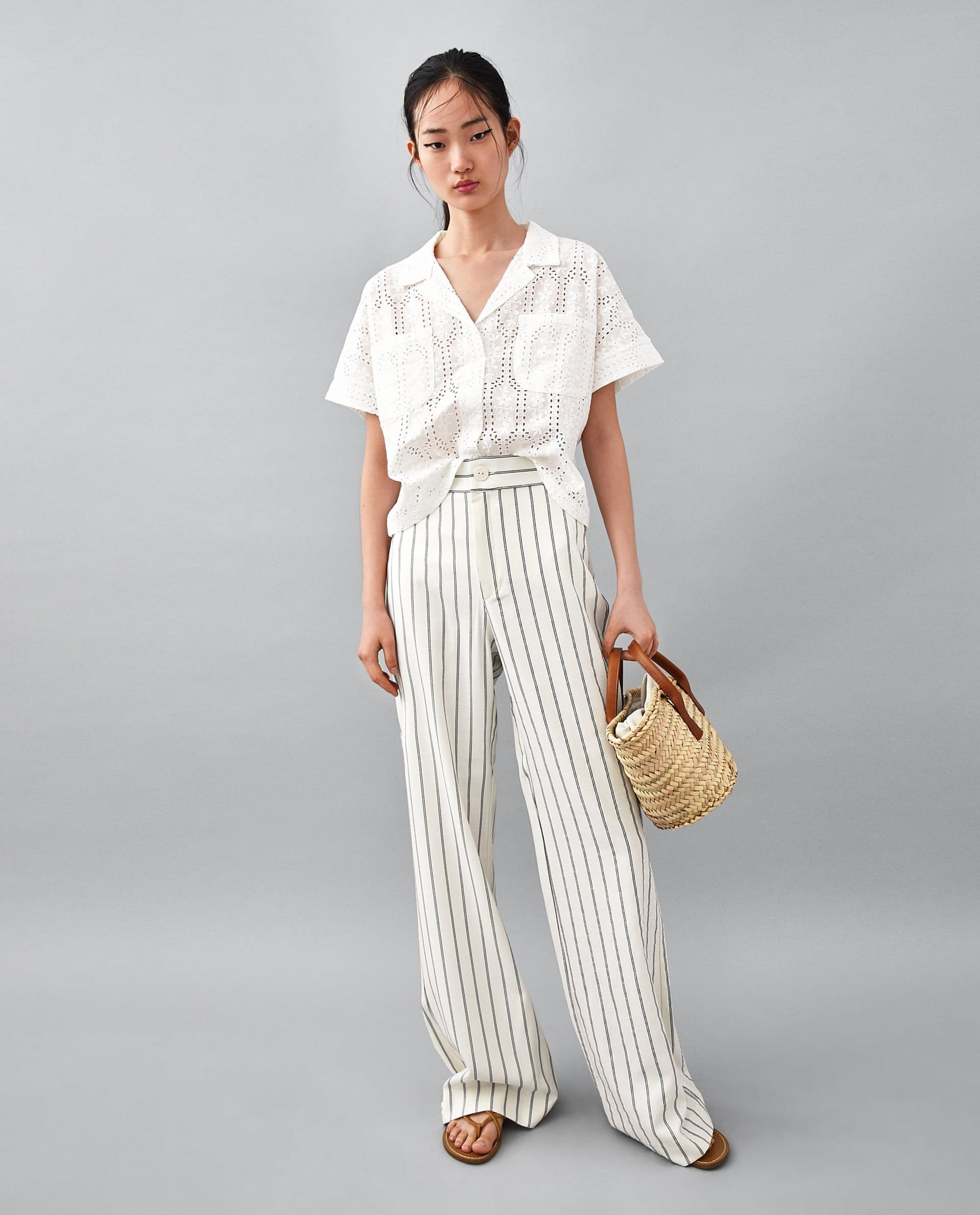 b8b7e3dd LEATHER TOTE BAG Styles P, Cutwork Embroidery, Striped Wide Leg Trousers, Wide  Leg