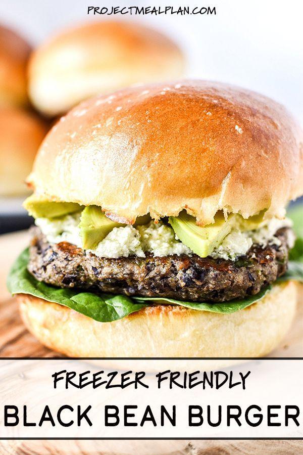 Freezer Friendly Black Bean Burgers