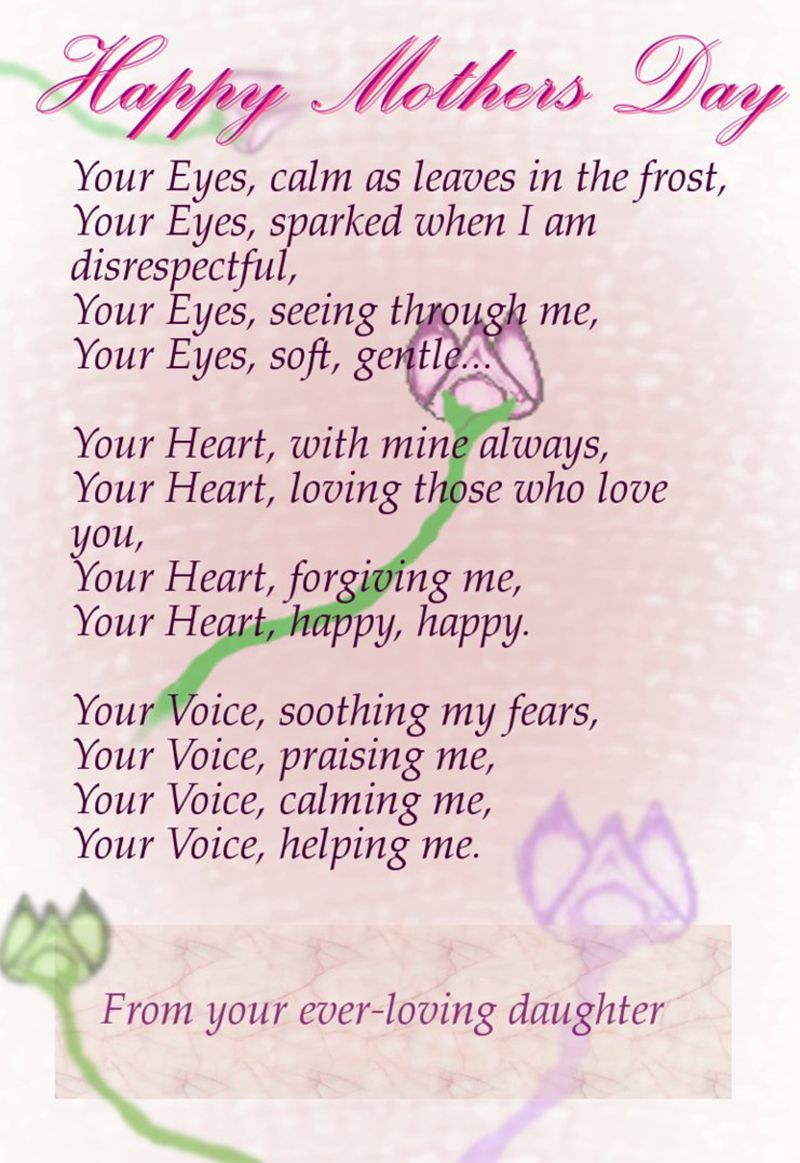 Happy Mother S Day Happy Mother Day Quotes Happy Mothers Day Poem Mothers Day Poems