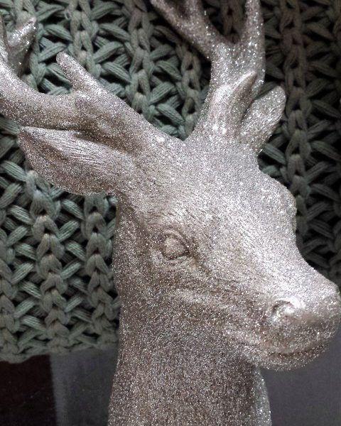 Hirschkopf Deko Hirsch Weihnachten Dekoration Schatzkisten Geweih