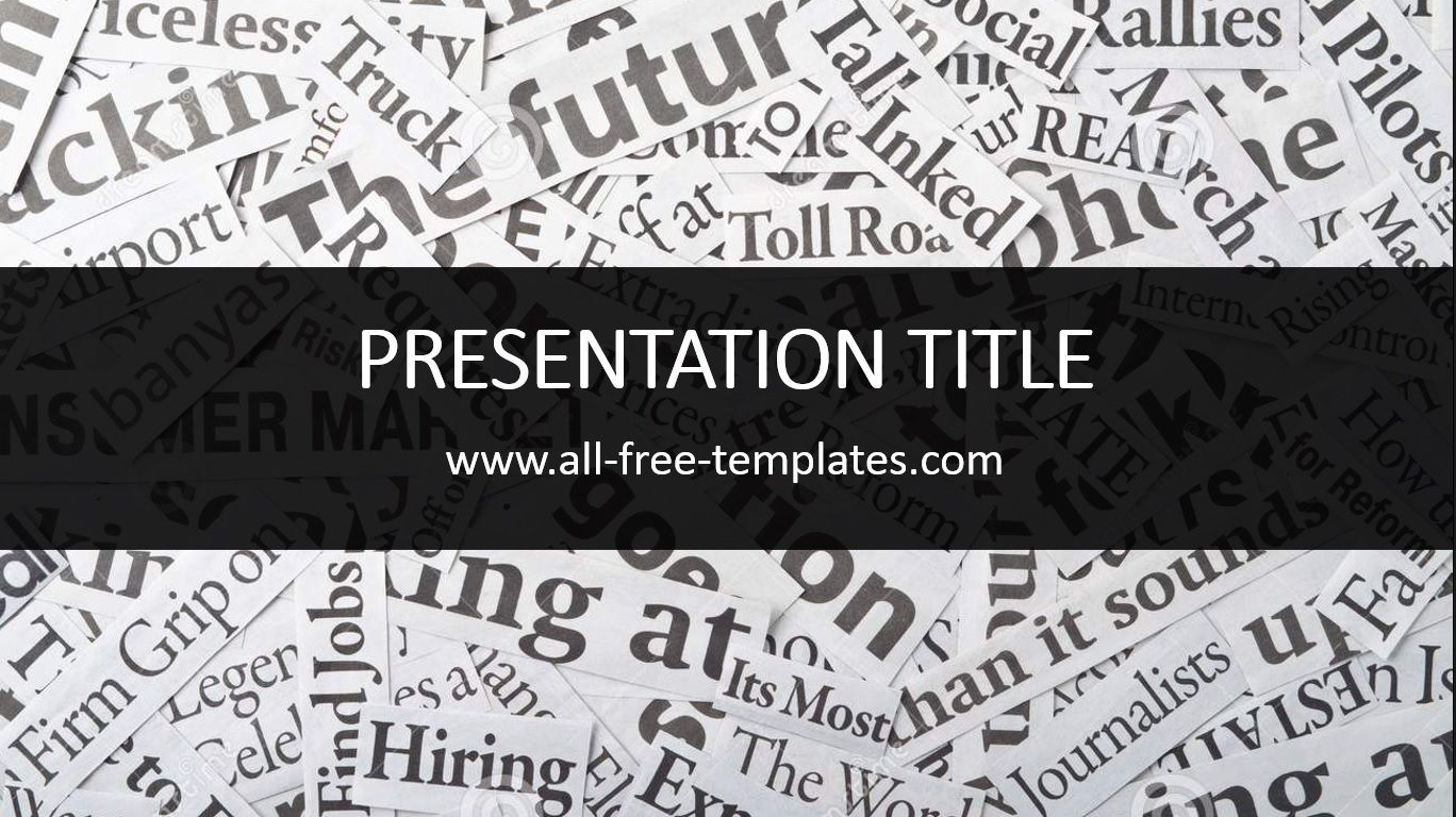 Newspaper Powerpoint Template Is Free Template That You Can Use To