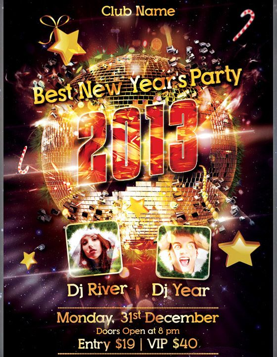 New Year Party Flyer  WebMantha    Flyer Template