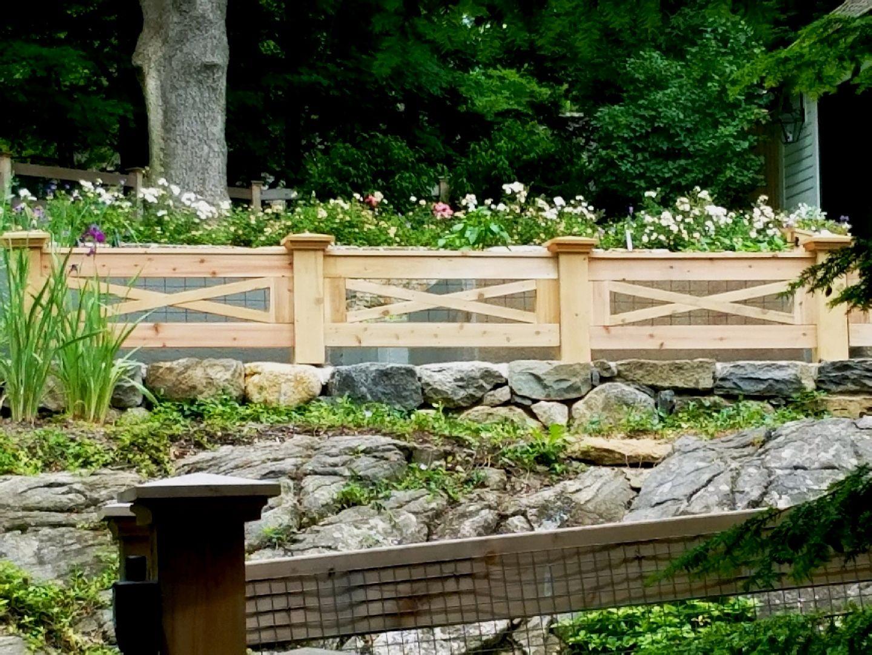 Custom Cedar Fencing with Wire | WOOD FENCE | Fence design ...