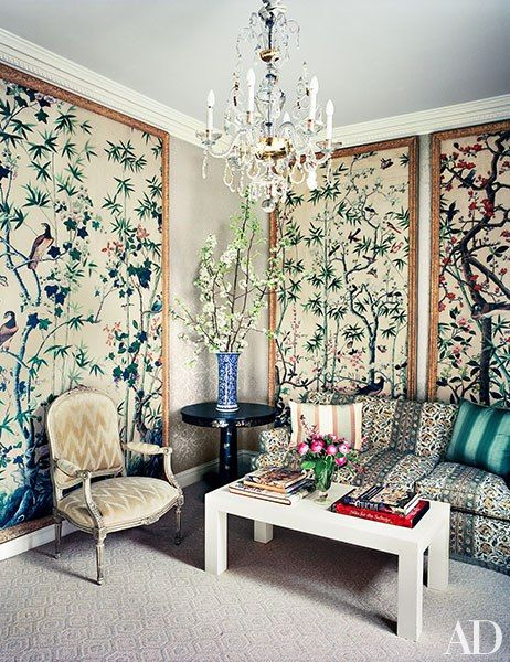 Michael S. Smith - Architectural Digest i love how it feels vintage and old timey but still has modern touches to it