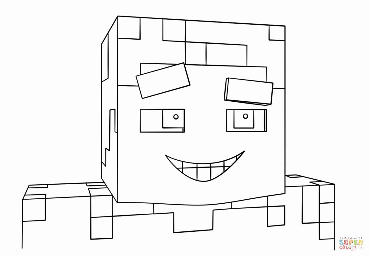 32 Minecraft Steve Coloring Page in 2020 (With images ...