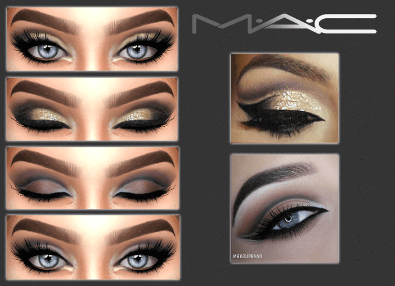 Mac Style Eyeshadows For The Sims 4 Makeup Pinterest Sims