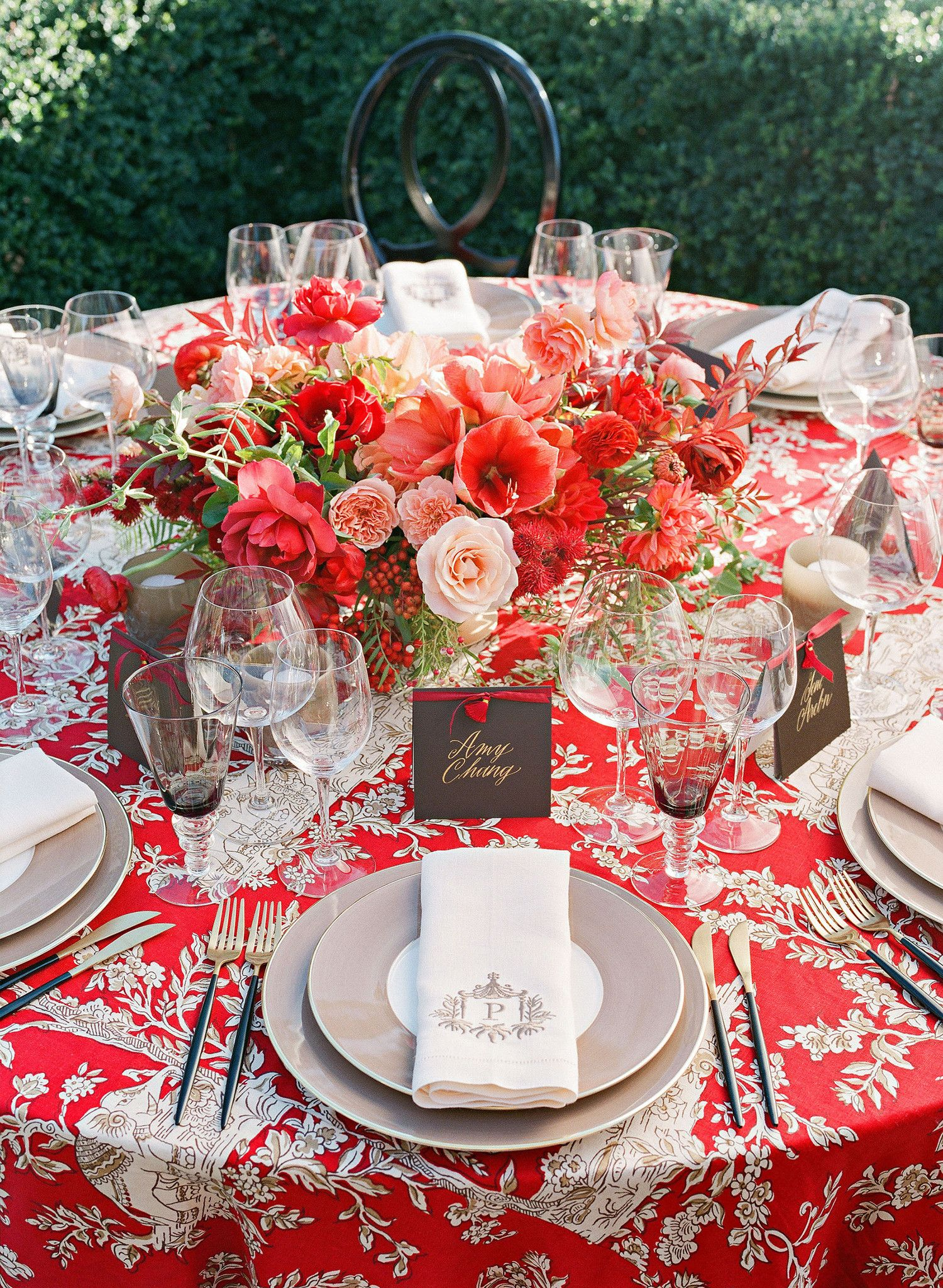 A Bright Wine Country Wedding With Indian And Chinese Elements Wine Country Wedding Wedding Reception Napkins California Wine Country Wedding