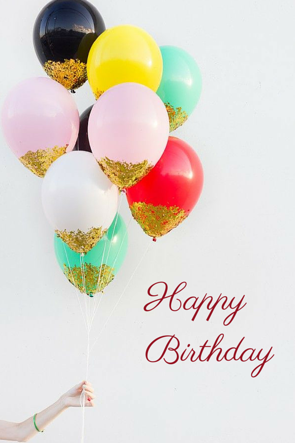 Happy Birthday Card Quotes Glitter Balloons Balloons Happy Birthday Cards