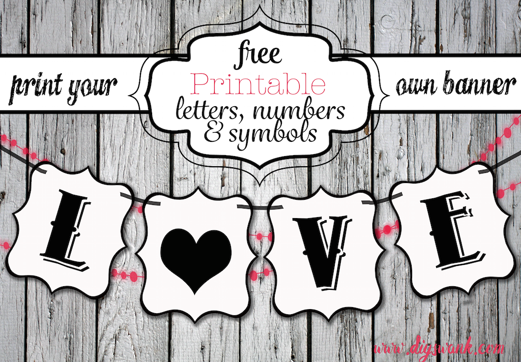 Projects  Printable Letters Banners And Free Printable