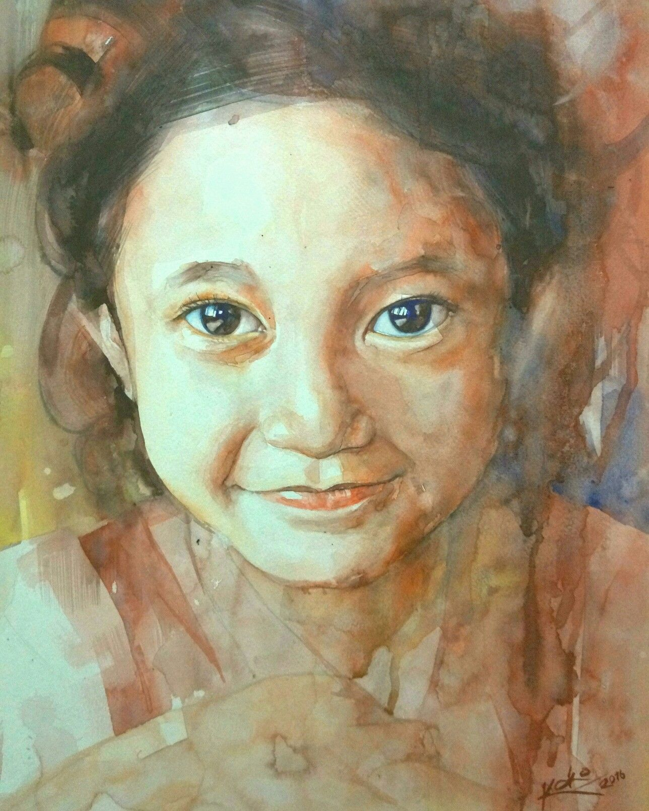 Watercolor painting by Koko Poniman