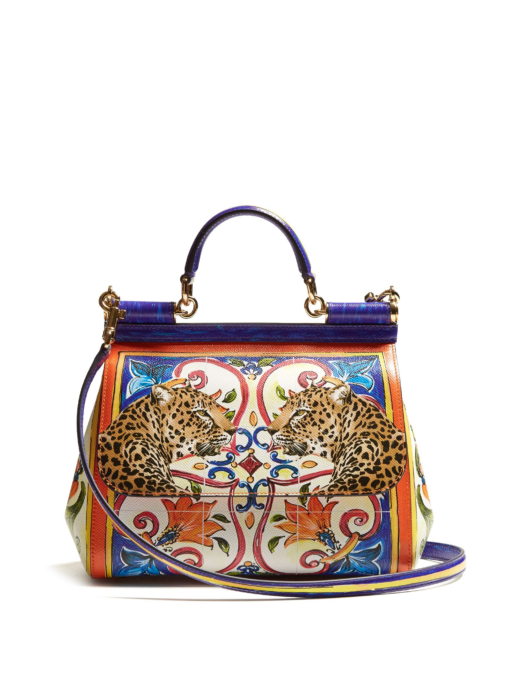 Sicily medium Majolica-print leather bag   Dolce   Gabbana    MATCHESFASHION.COM UK. Find this Pin and more on bizarre bags ... 48cb00c651