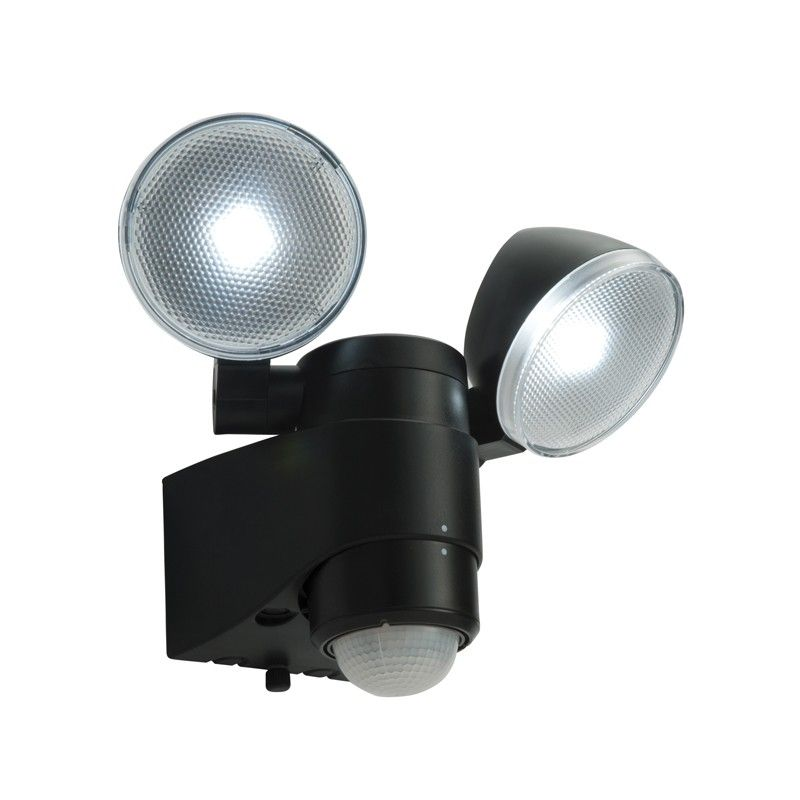 Endon Laryn Battery Operated Led Floodlight With Pir Sensor Twin