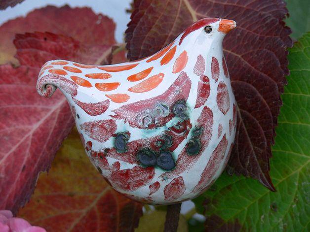 gartenfiguren steckvogel schn rkelschwanz ein designerst ck von brigitte peglow bei. Black Bedroom Furniture Sets. Home Design Ideas