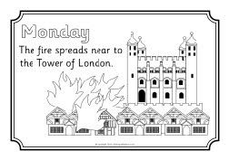 Great Fire of London colouring sheets (SB8886