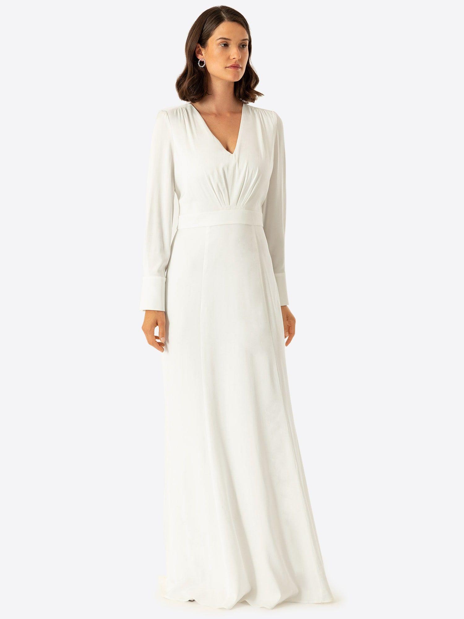 IVY & OAK Kleid Damen, Wollweiß, Größe 36 #asymmetrischerschnitt IVY & OAK Kleid Damen, Wollweiß, Größe 36 #asymmetrischerschnitt