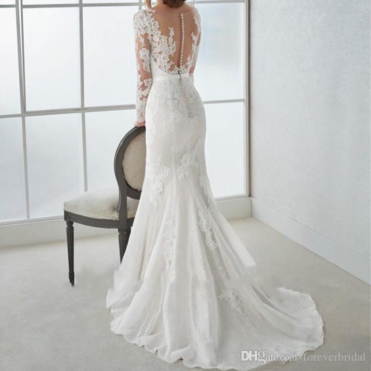 11+ White lace long sleeve wedding dress information