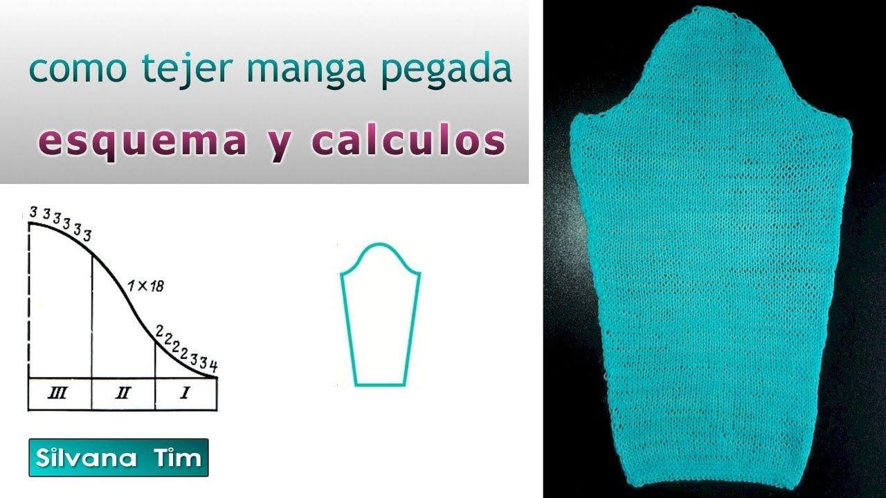 Cómo tejer MANGA pegada. Esquema y cálculos Cómo calcular patrón ...