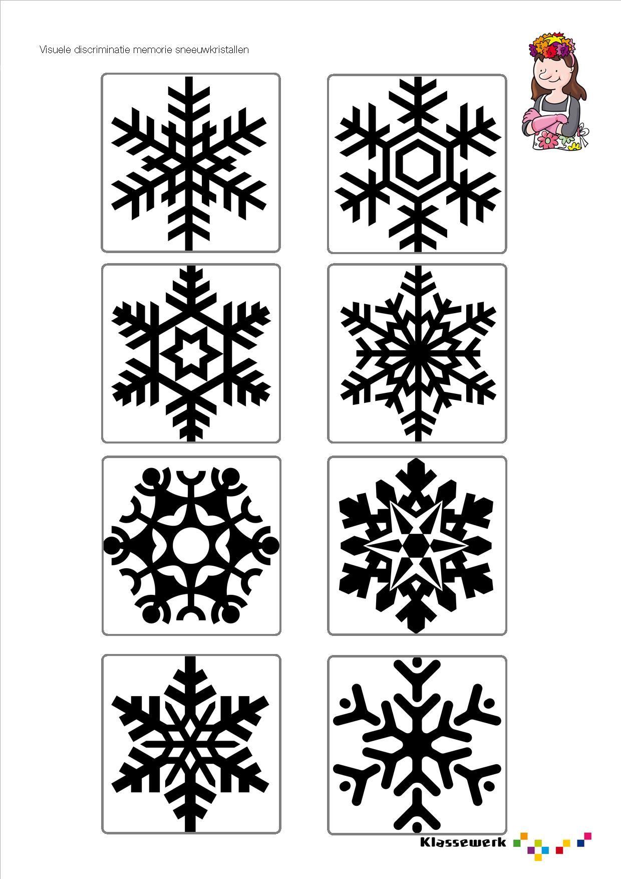 Ijkristallen Memorie Sneeuwvlokken Sneeuw Creatieve Ideeen