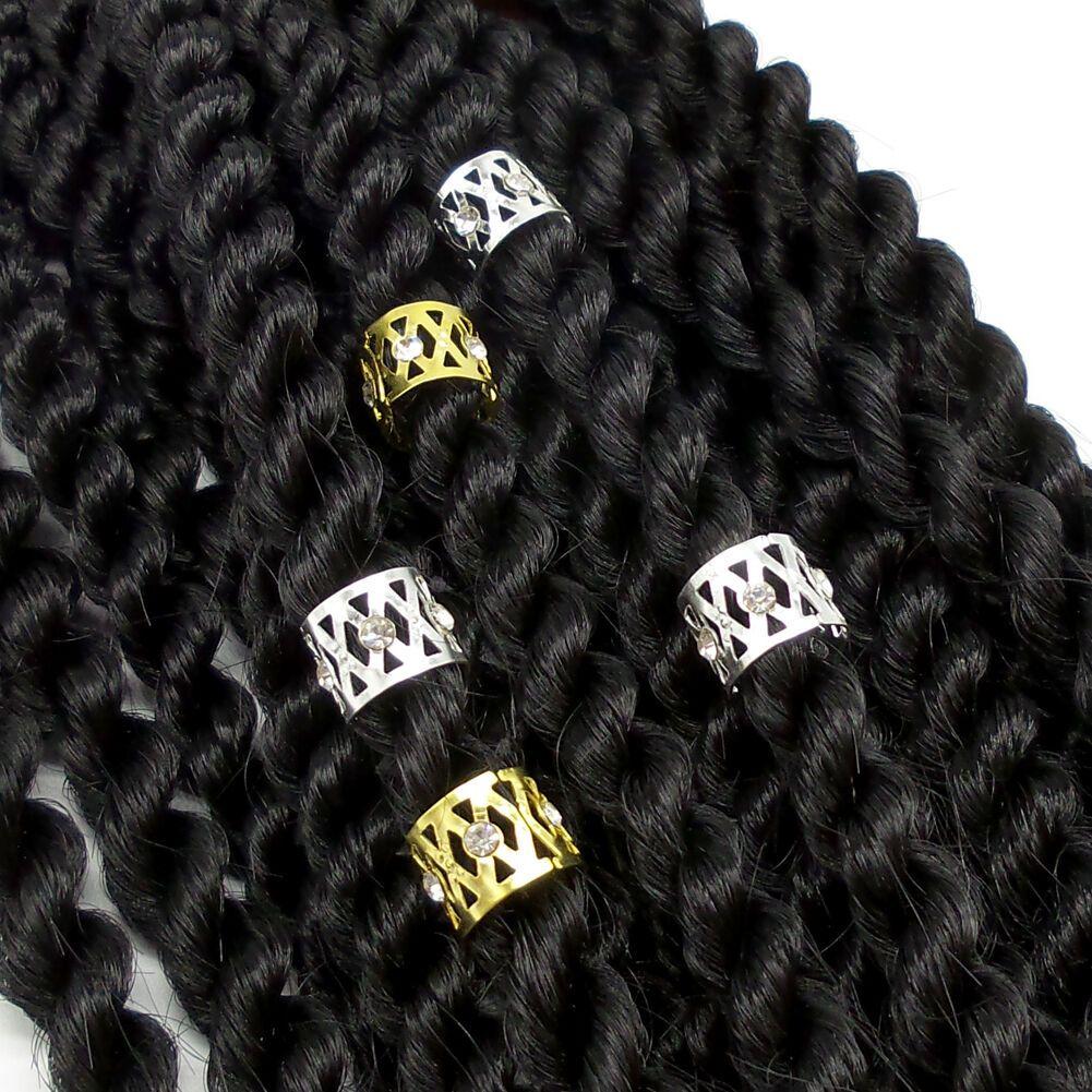 10Pcs Accessories Braid Tibetan Jewelry Beads Ring Tube Cuff Clip Hair Dreadlock
