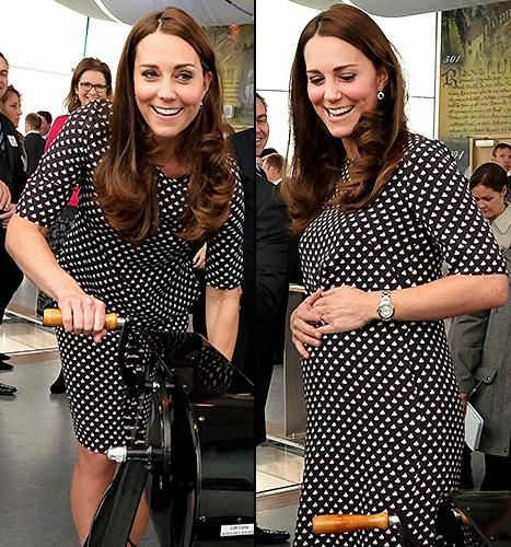 Pregnant Kate Middleton Keeps Warm in White Coat: See the Baby Bump Photos! - Yahoo Celebrity