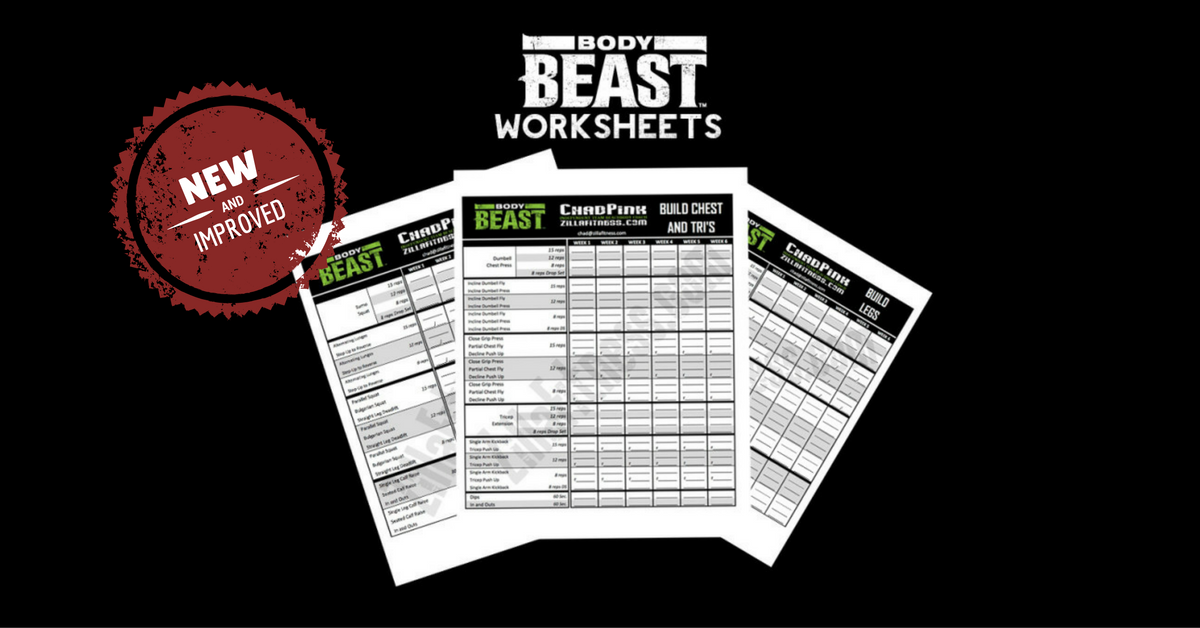 NEW AND IMPROVED BODY BEAST WORKOUT SHEETS – Beast Workout Sheet