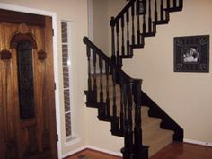Good Black Staircase Wood Spindles Before And After   Google Search