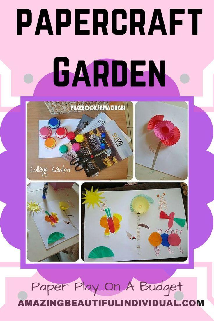 Papercraft Garden Using Cupcake Wrappers Scrap Paper Parenting