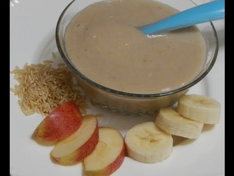 Healthy baby food recipe banana apple porridge rice with banana healthy baby food recipe banana apple porridge rice with banana apple l 6 forumfinder Images