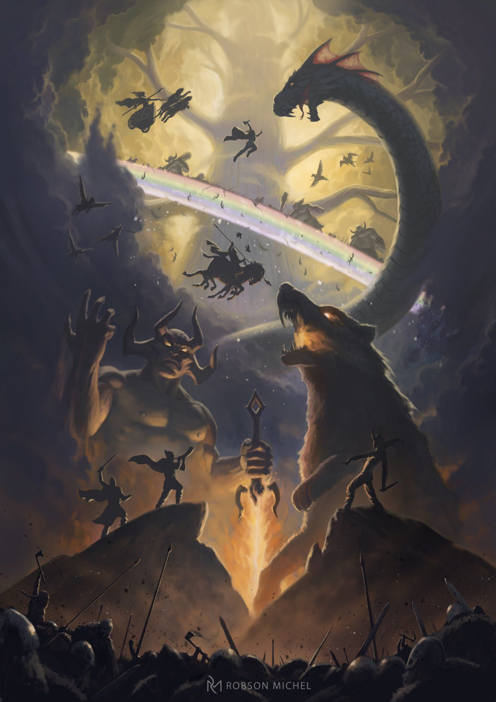Ragnarok Loki Norse Mythology Ragnarok Norse Norse