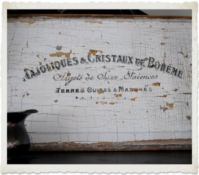 DIY- Aged French Sign - Transfer onto Wood - Printable