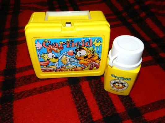 Vintage 1978 Garfield Lunchbox and Thermos Set