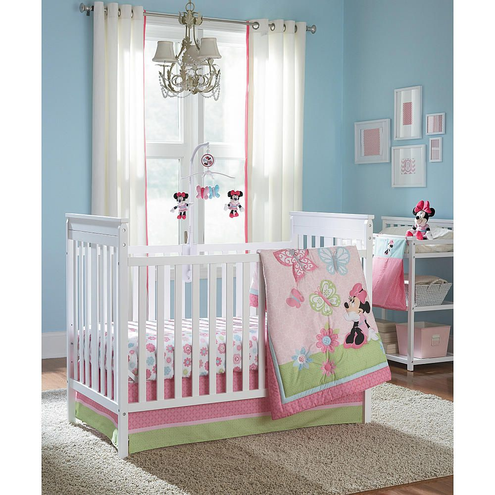Disney Baby Minnie Mouse 4-Piece Crib Bedding Set - Disney ...