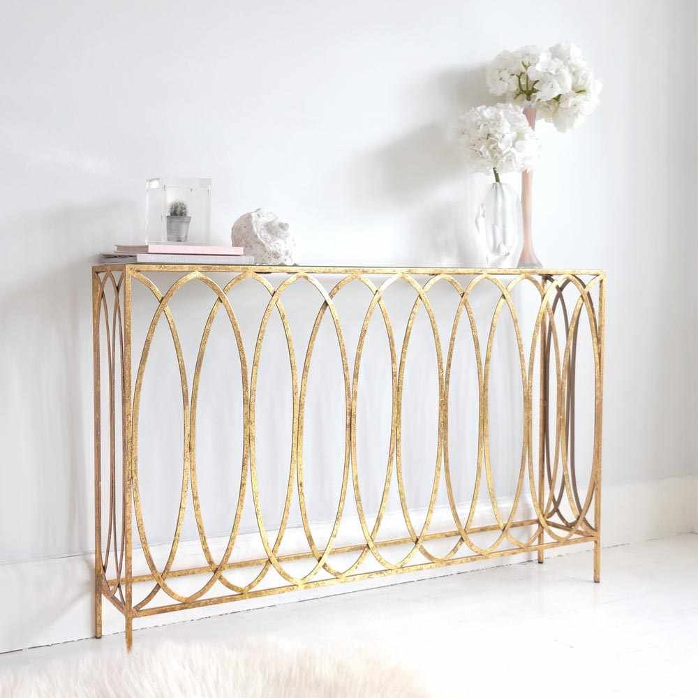 Slim Gold Console Table | Console tables, Consoles and Bedrooms