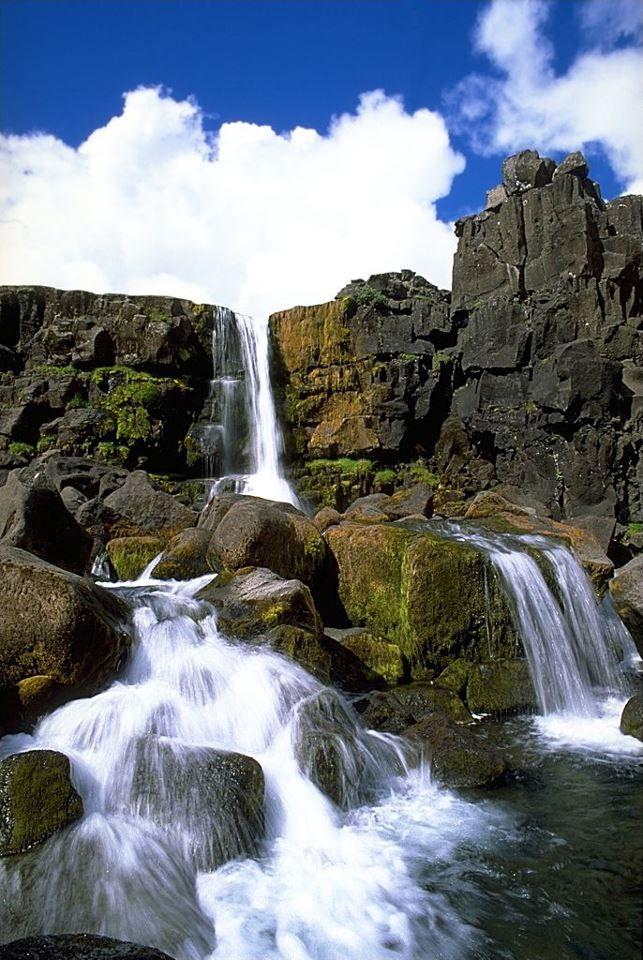 Canyon of Öxarárfoss, Þingvellir National Park, Iceland