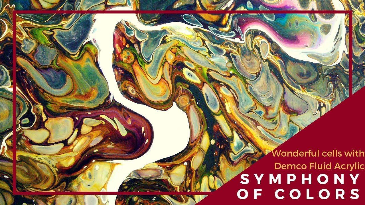 Wonderful Cells With Demco Fluid Acrylic Beaux Arts Peinture Et Deco