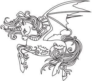 Spooky Unicorn Design UTH5249 From UrbanThreads 650w X 587