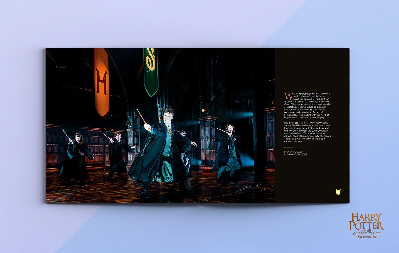 Harry Potter - Cursed Child official souvenir brochure design ...