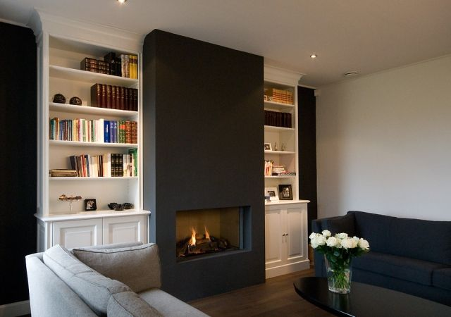 kastenwand woonkamer - Google zoeken | FIREPLACES – tiny & huge ...