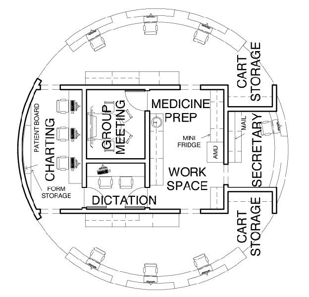 Nurse Station Layout Healthcare Pinterest Hospital Plans Nurses Station Hospital Floor Plan
