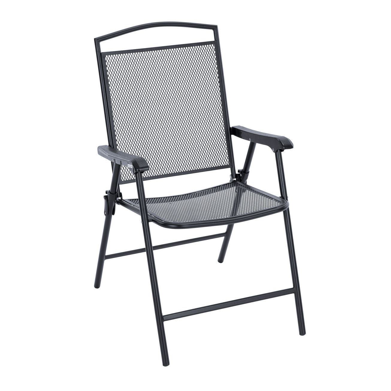 Living Accents Seville Folding Wrought Iron Chair Set Of 4 Outdoor Dining Chairs Ace Hardware