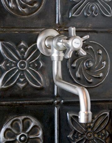 Tour A Festive Victorian Kitchen Victorian Kitchen Tin Tiles Tin Tile Backsplash