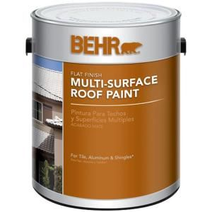 behr 1 gal white reflective flat multi surface roof paint on home depot behr paint id=20867