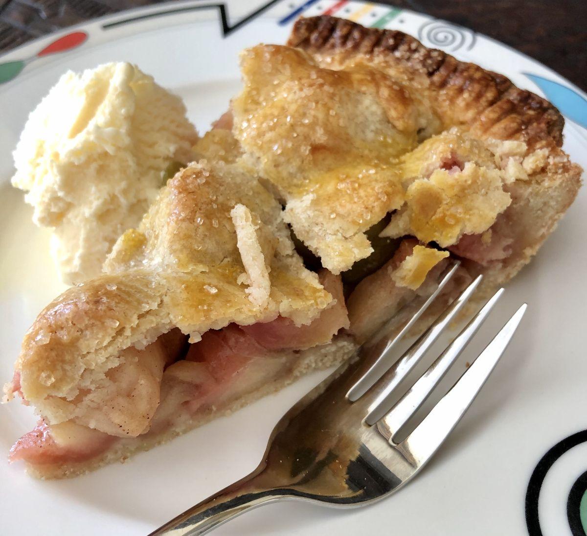 Karamelisierte applepie pastry tart apple pie food