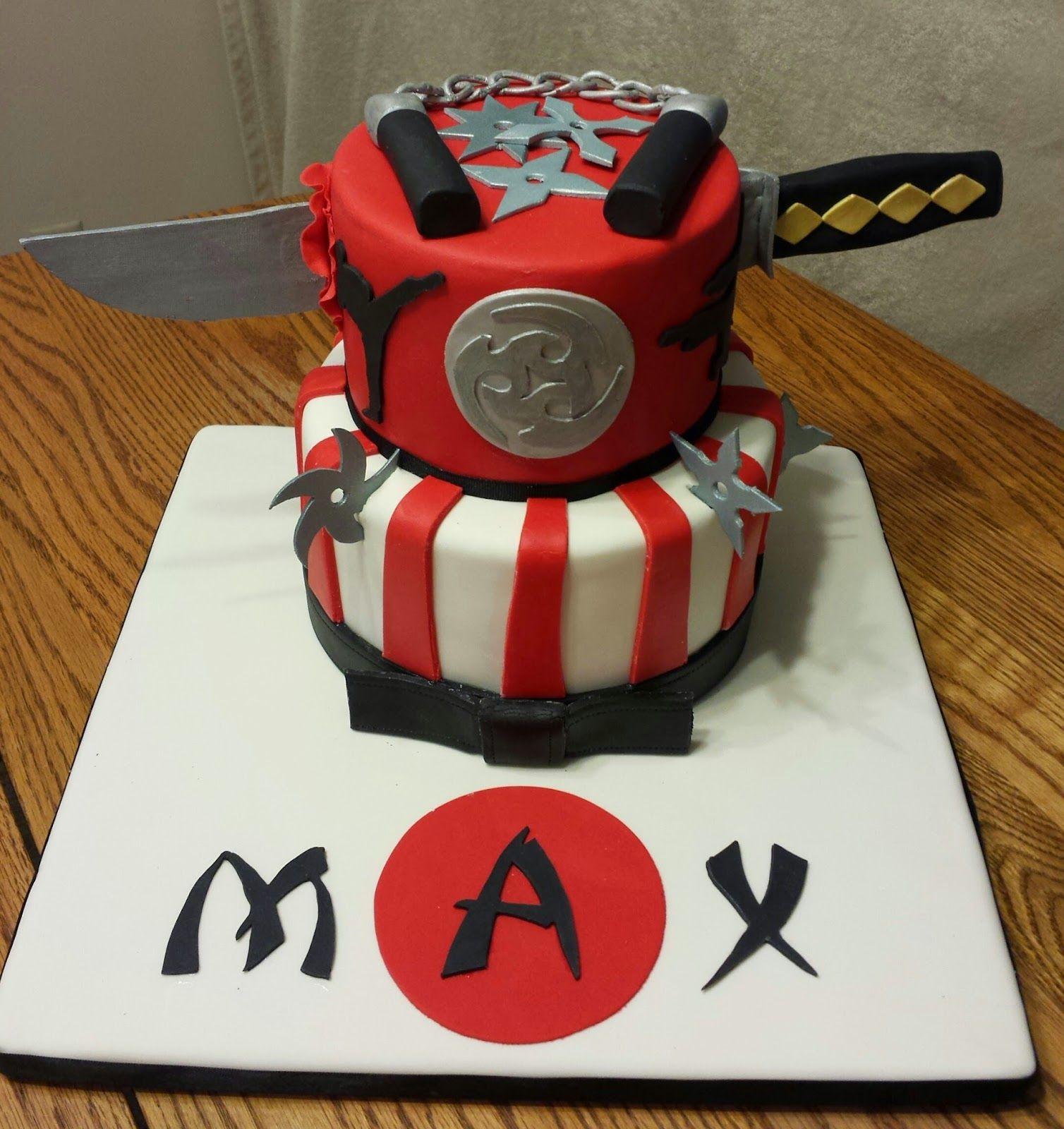 Ninja Birthday Cake cakepins.com | Birthday ideas in 2019 | Ninja ...