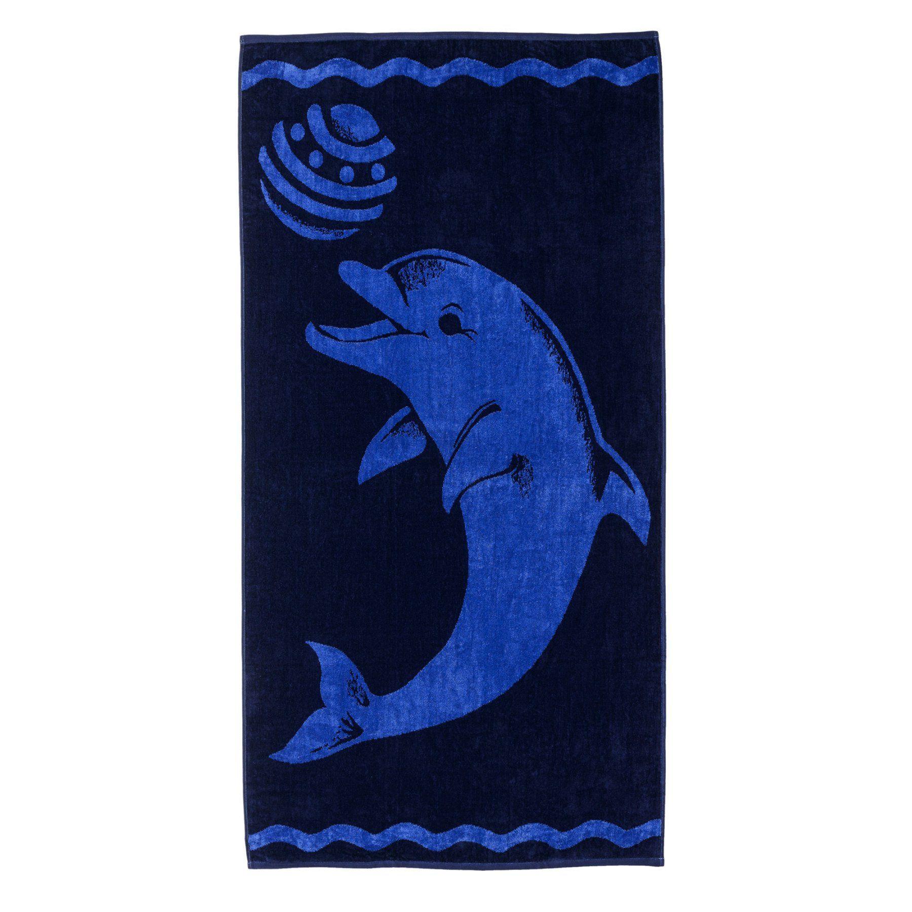 Superior Thick And Plush Dolphin Beach Towel Playdolp Blue