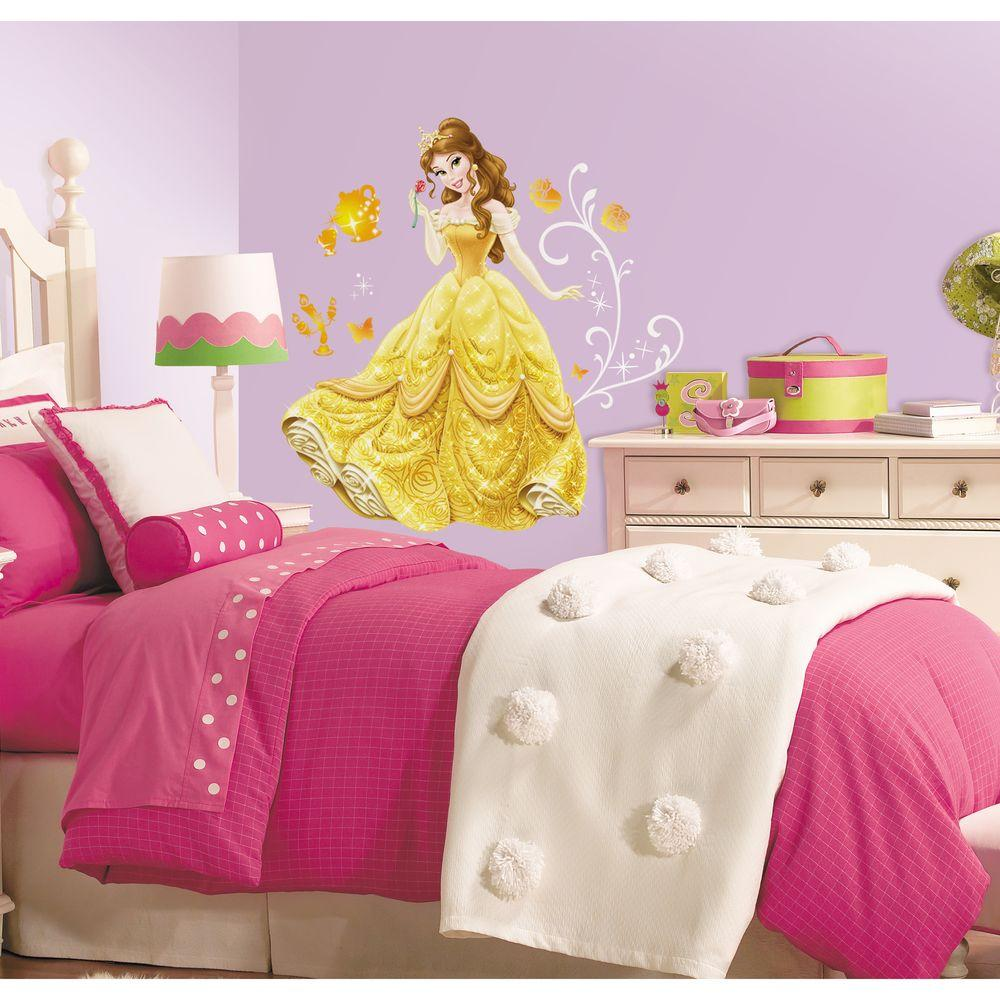 Roommates 5 In X 19 In Disney Princess Belle Peel And Stick
