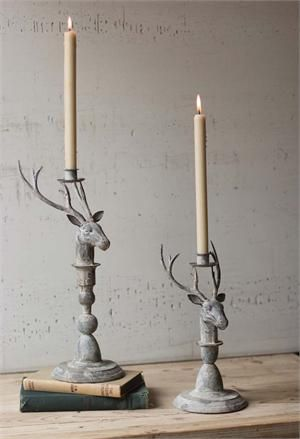 This Holiday Season Give Your Farmhouse A Country Cabin Feel With Our Rustic Metal Deer Candle HoldersRustic