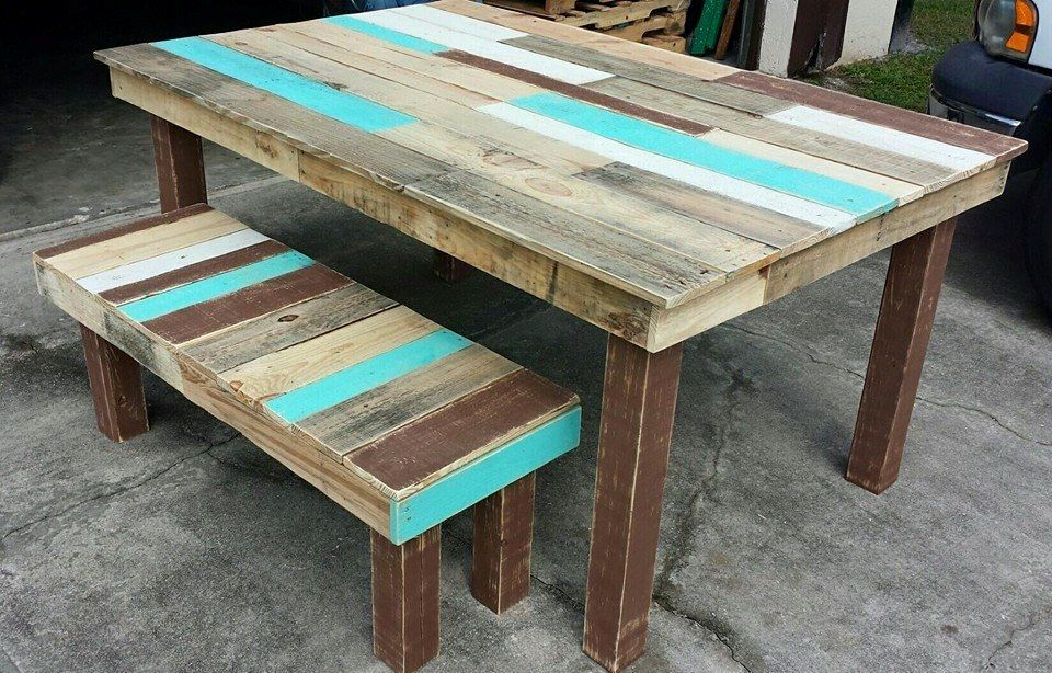 Pallet Furniture For Sale Part - 28: If You Are Having Some Free Ways To Grab Any Supply Of Pallets Then This  DIY Pallet Dining Table And Bench Set Is What You Can Build To Sell Today!