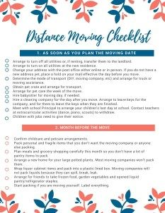 detailed moving checklist